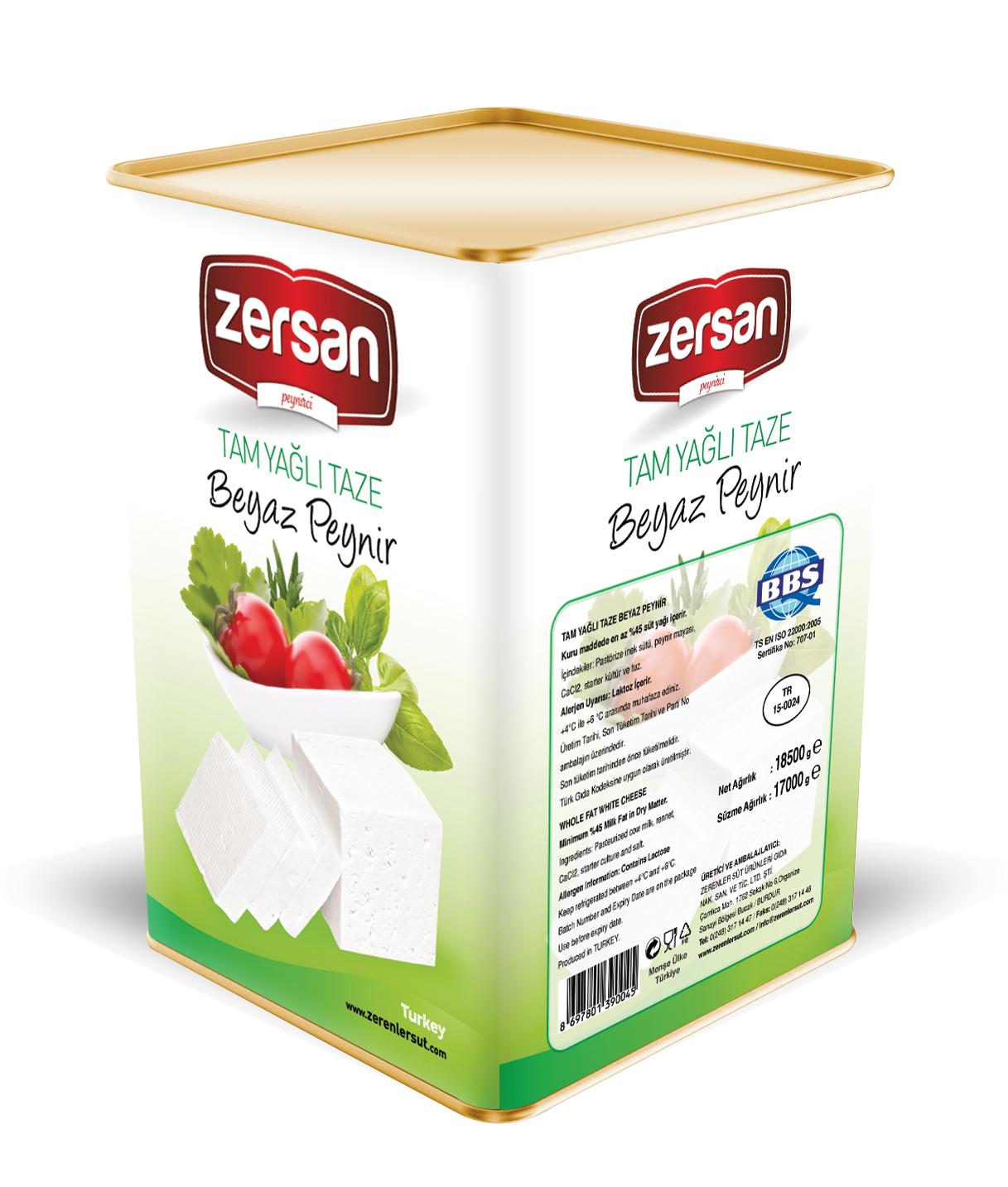 Zersan White Cheese Whole Fat