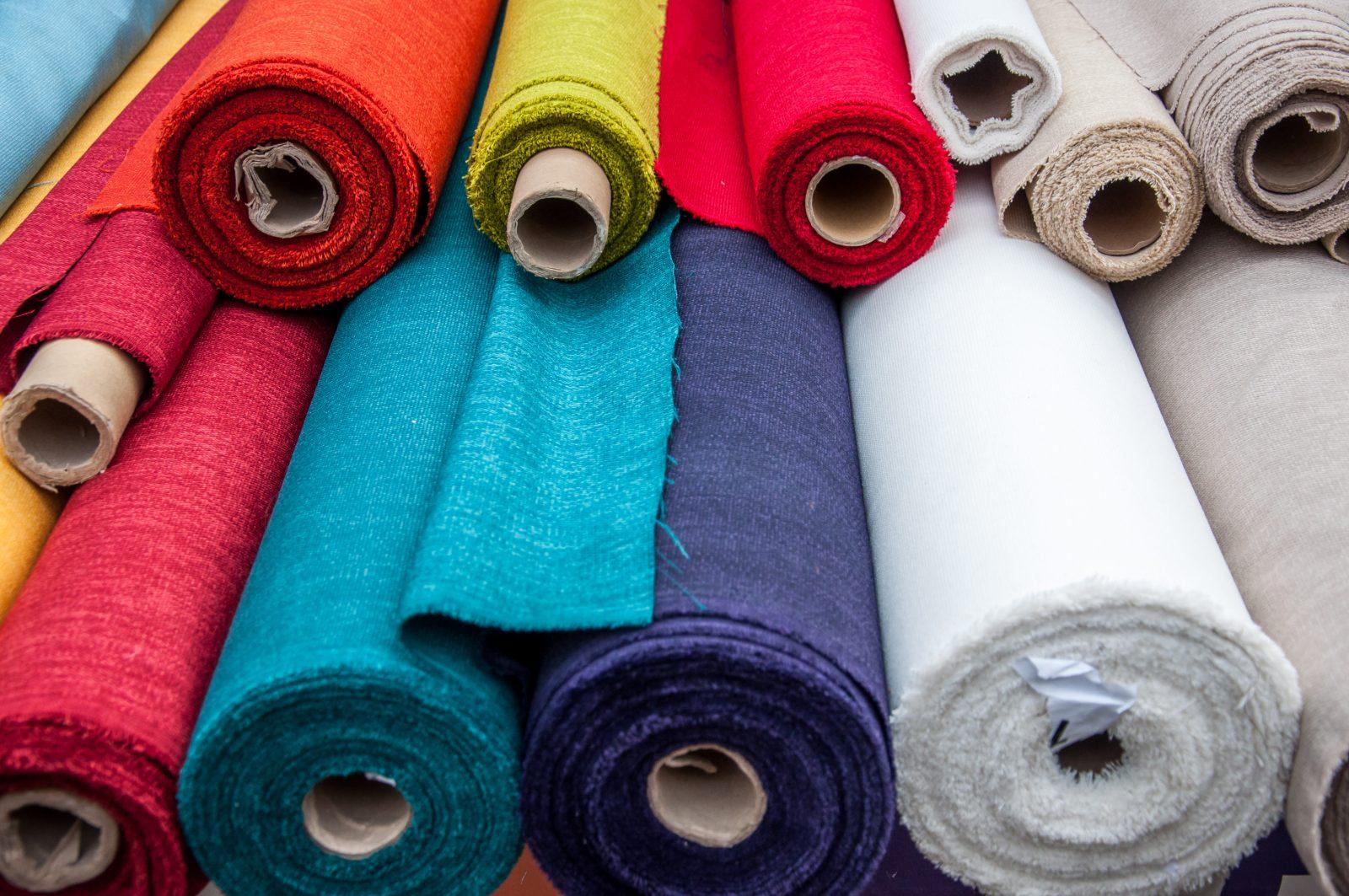 Colorful Fabric Rolls