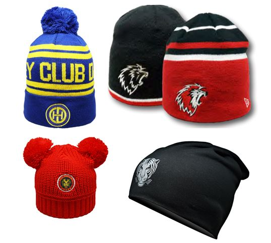 Hat Knitted with jacquard or embroideried