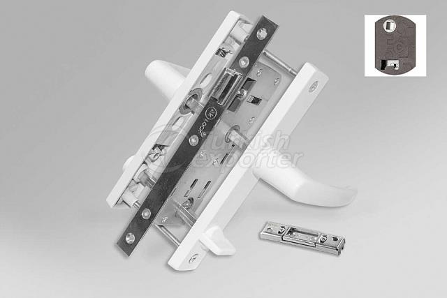 MİNİ.004 Mi̇ni̇ Wc Kapı Kilidi 25 MM - 70 Eksen (Dilsiz)