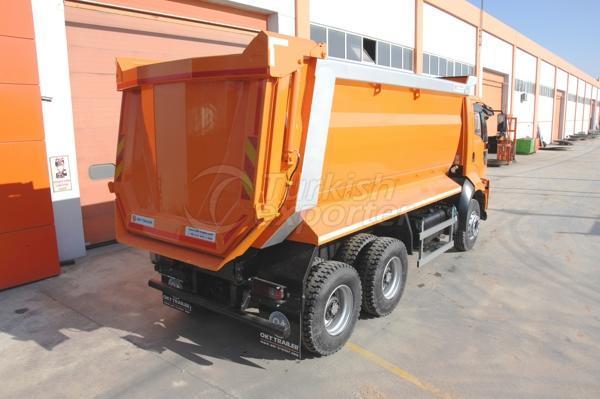 Caminhão montado meia tubulação Dump04