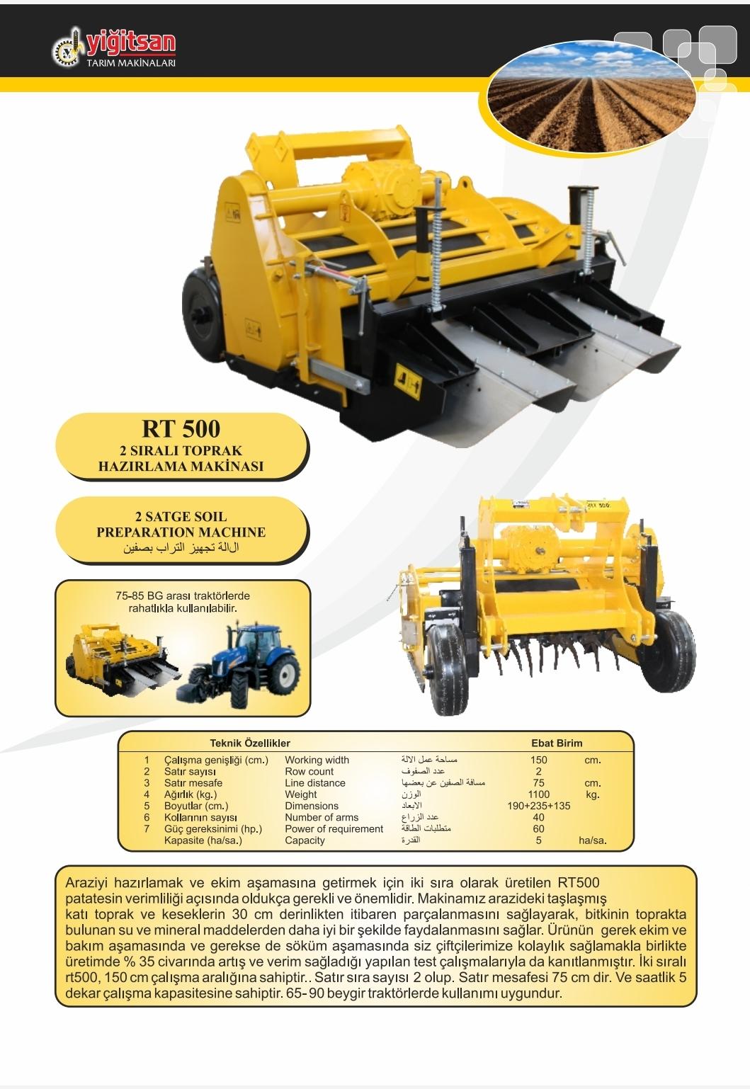 Soil Preparation Machinery Yrt5001