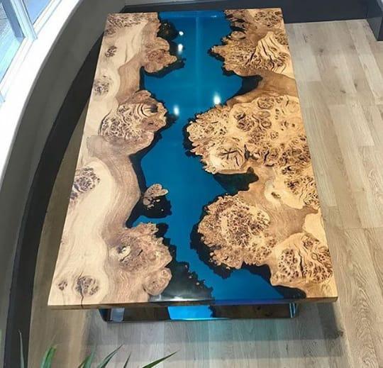 Epoxy Table, wood table