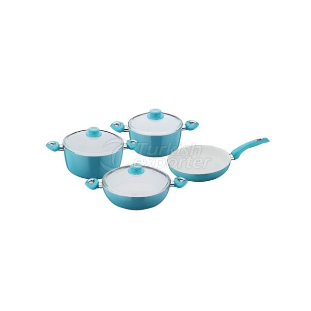 Ceramic 7 Pieces Pot Set