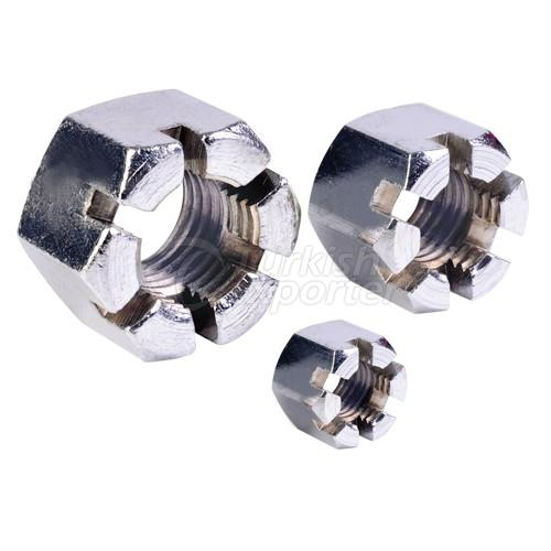 High Hexagon Slotted Nuts