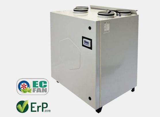 VHR PE EC Residential Type Heat Recovery Unit
