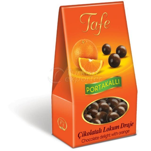 1246 kod Portakallı Çikolatalı Lokum Draje 60g