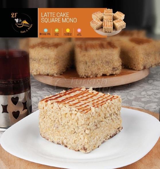 Frozen Latte Cake Square Mono