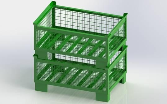 LIDLESS EURO HALF BOX/PALLET
