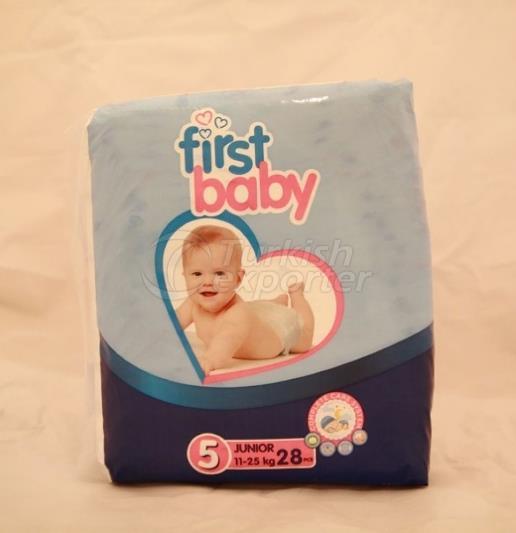 FIRST BABY 5 NO JUNIOR BABY DIAPER 11-25 KG