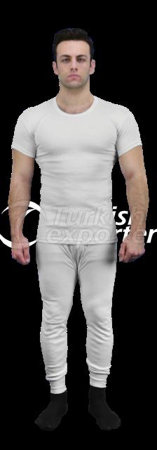 White Wool Thermal Underwear - AVS 8003