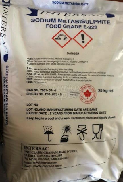 Sodium Metabisulphite Food Grade E-223 b