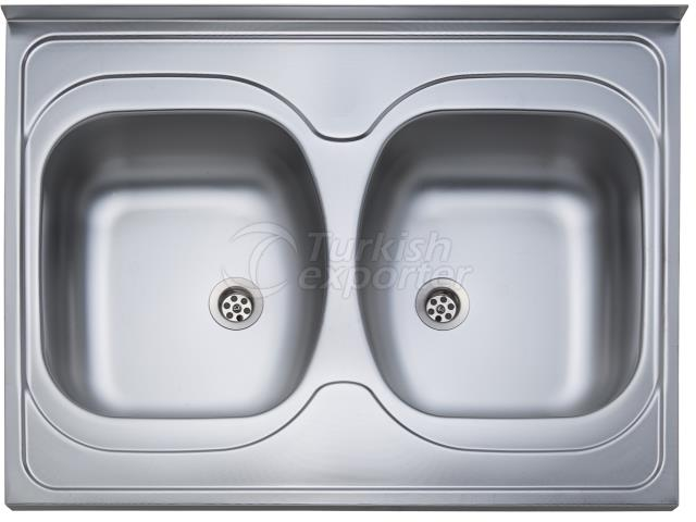 60x80 2 Bowl Layon Sink
