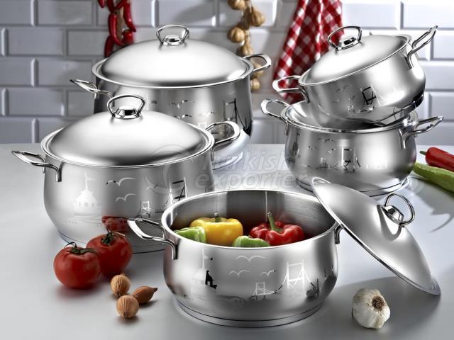 Sateen Steel Saucepan