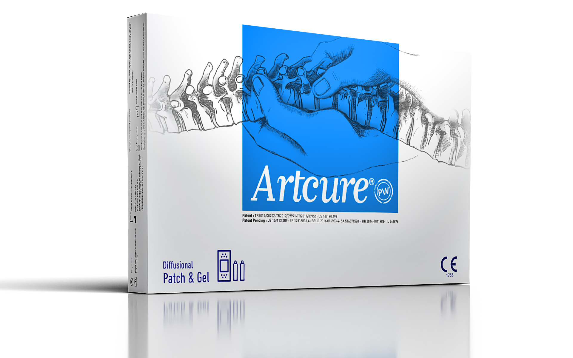 Artcure PW Diffusional Patch - Lower Back and Cervical Hernia - Non-Invasive Method