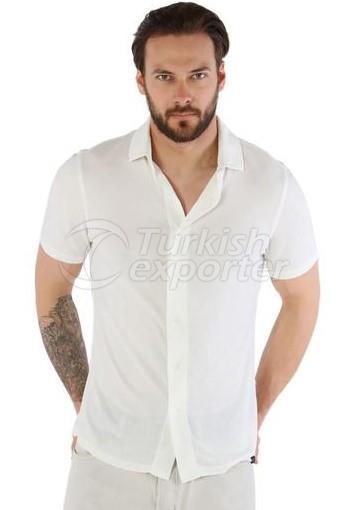 Chemise à manches courtes en cachemire Fersatile - 8699908841901