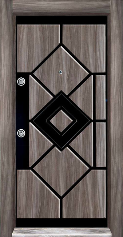 PVC Embossed Steel Door 7100