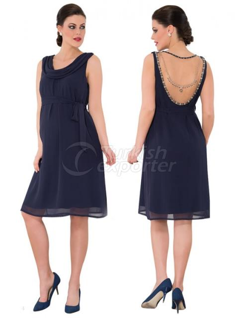 Maternity Clothes Back Beaded Evening Dress Mini funnel