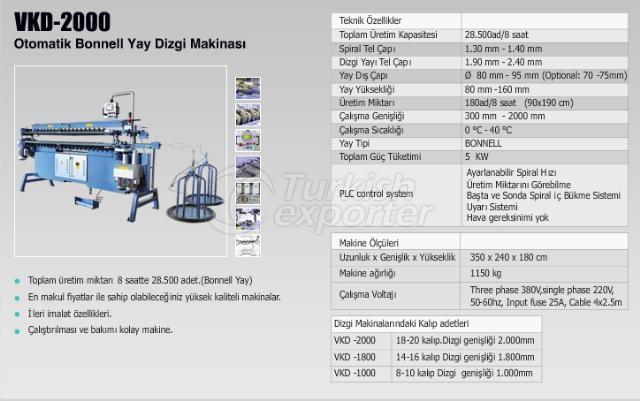 VKD - 2000 Bonnell Spring Assembly Machine