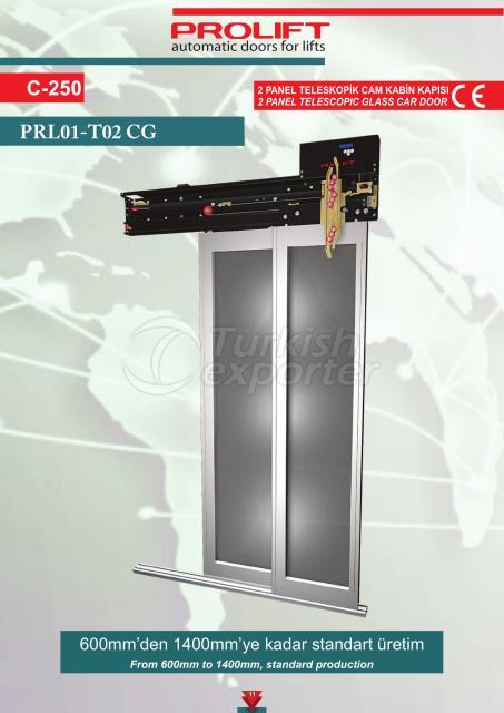 2PNL TELESCOPIC GLASS CAR DOOR