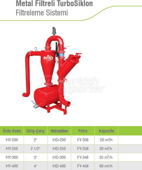 Turbo Cyclone Filtration System with Metal Filter