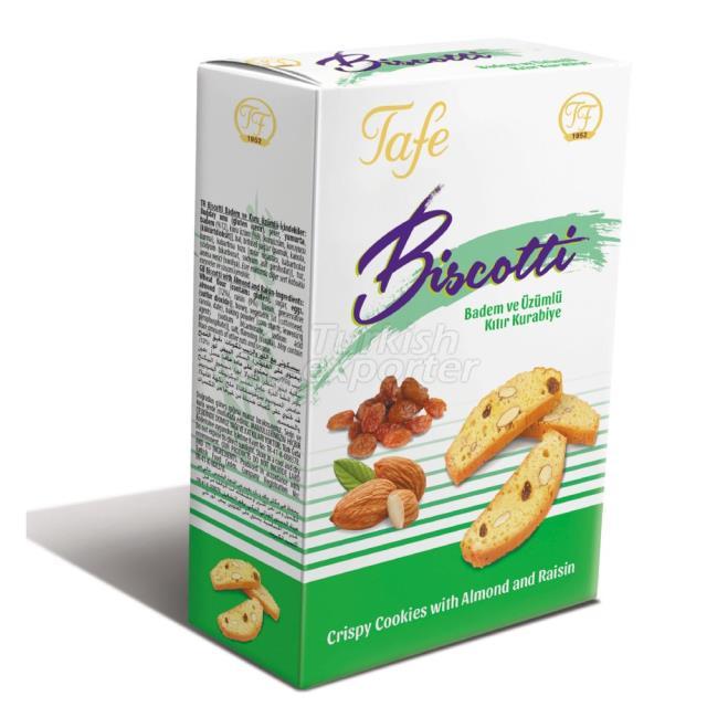 Código 353 Biscotti Cookies crocantes com passas de amêndoa
