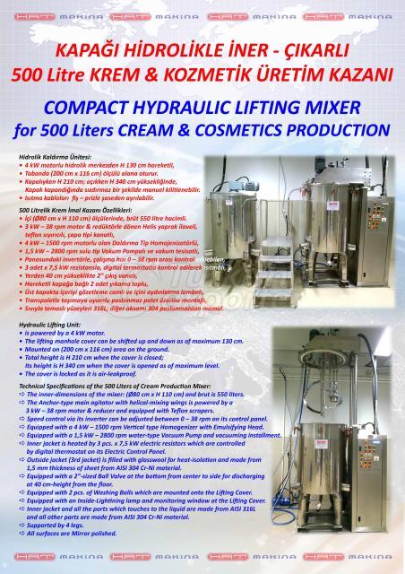 200 - 4000 Liters of CREAM MIXER