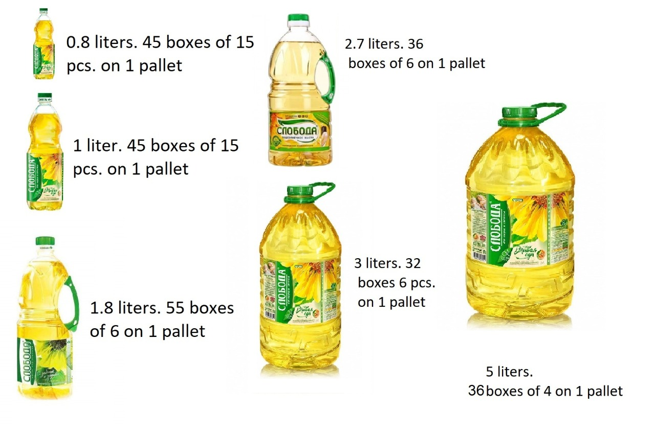 Sunflower oil for food use