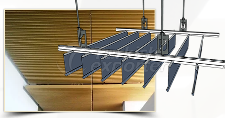 Suspended Ceiling   -Parallel Blades