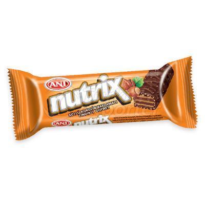 Sütlü Kakao Kaplı Fıstıklı Gofretler