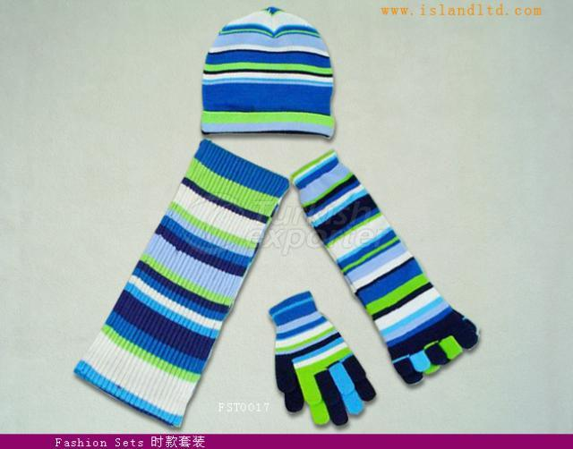 knitting glove,scarf,cap and sock