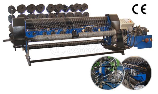 Hexagonal Wire Knitting Machine