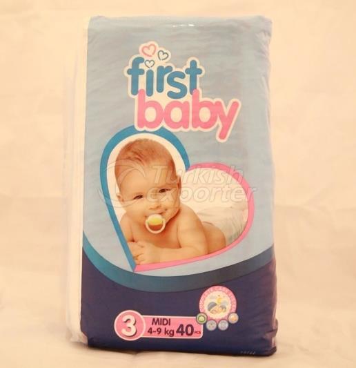 FIRST BABY 3 NO MIDI BABY DIAPER BEZI 5-9 KG