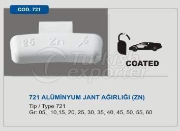 Code 721 Aluminum Wheel Balancing Mass without Lead