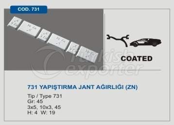 Code 731 Sticker Type Wheel Balancing Mass without Lead