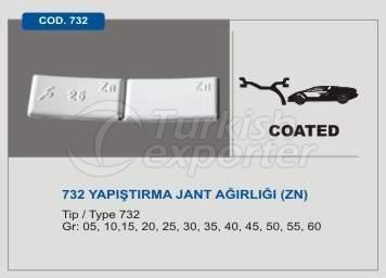 Code 732 Sticker Type Wheel Balancing Mass without Lead