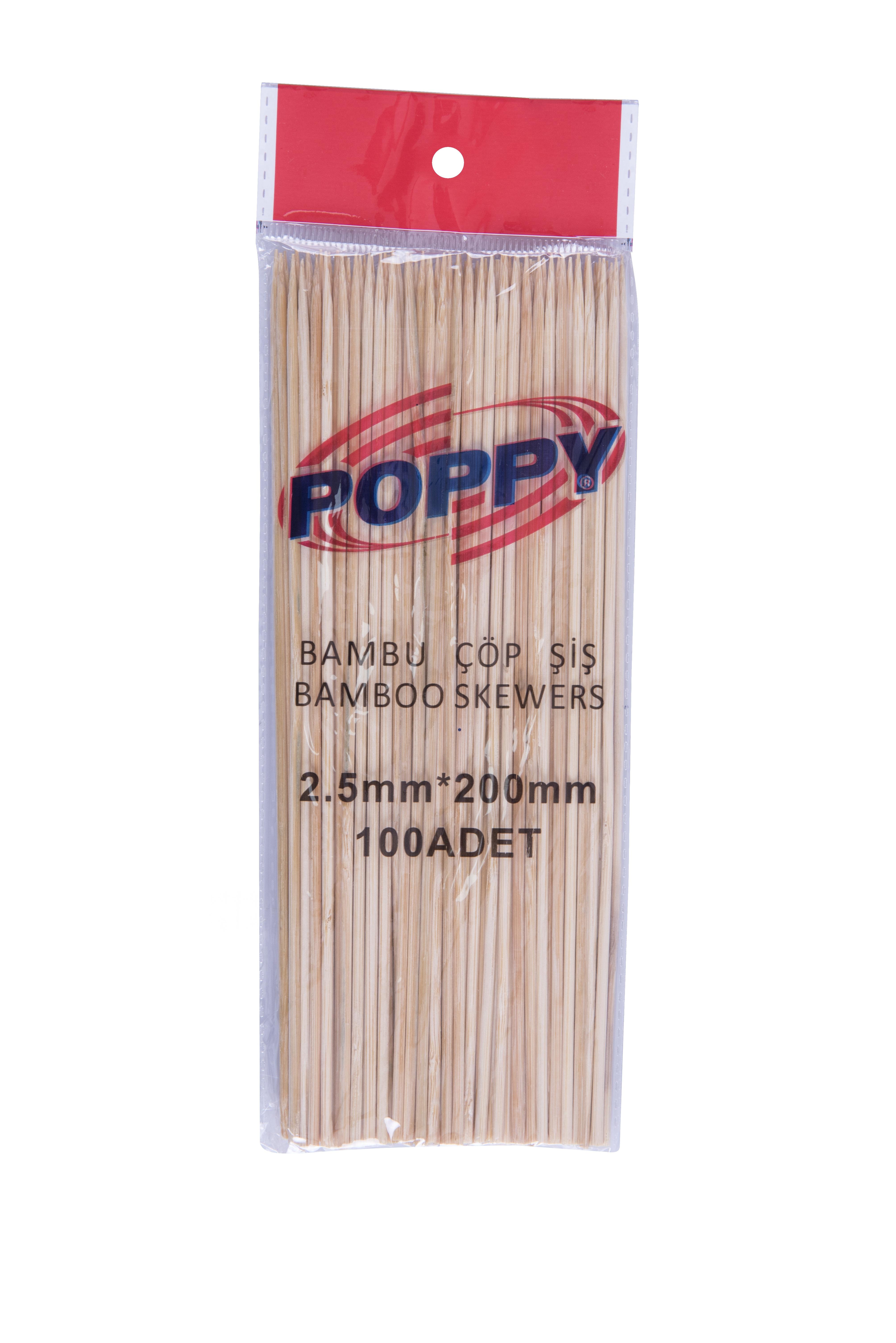 Poppy Bamboo Skewers