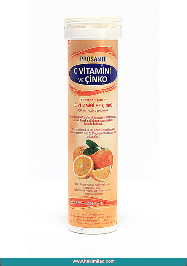 Prosante Шипучие таблетки с витамином С и цинком