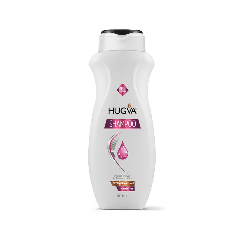 HUGVA CLASSIC SHAMPOO DRY & NORMAL HAIR, ANTI DANDRUFF, NORMAL HAIR;   HAIR CONDITIONER / 600 ML*12