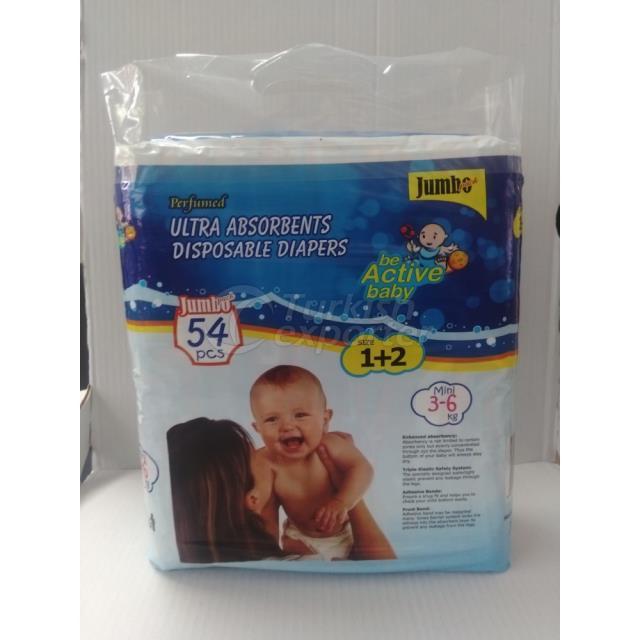 Baby Diapers Mini 54 pcs
