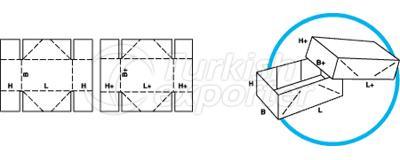 Caixas de tipo telescópio 0304