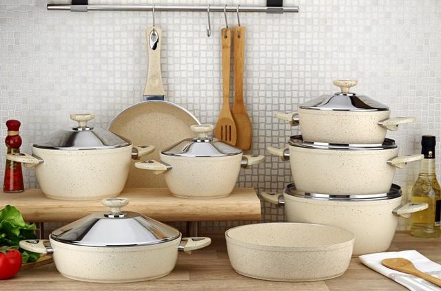 14 Pieces Classic Series Granite Coating Cookware Set