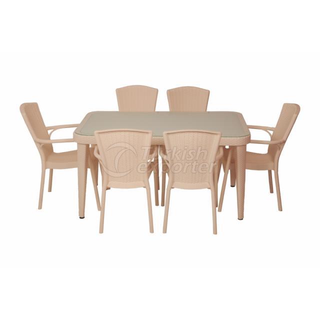 Cadeira e Mesas Osaka - Creme Real