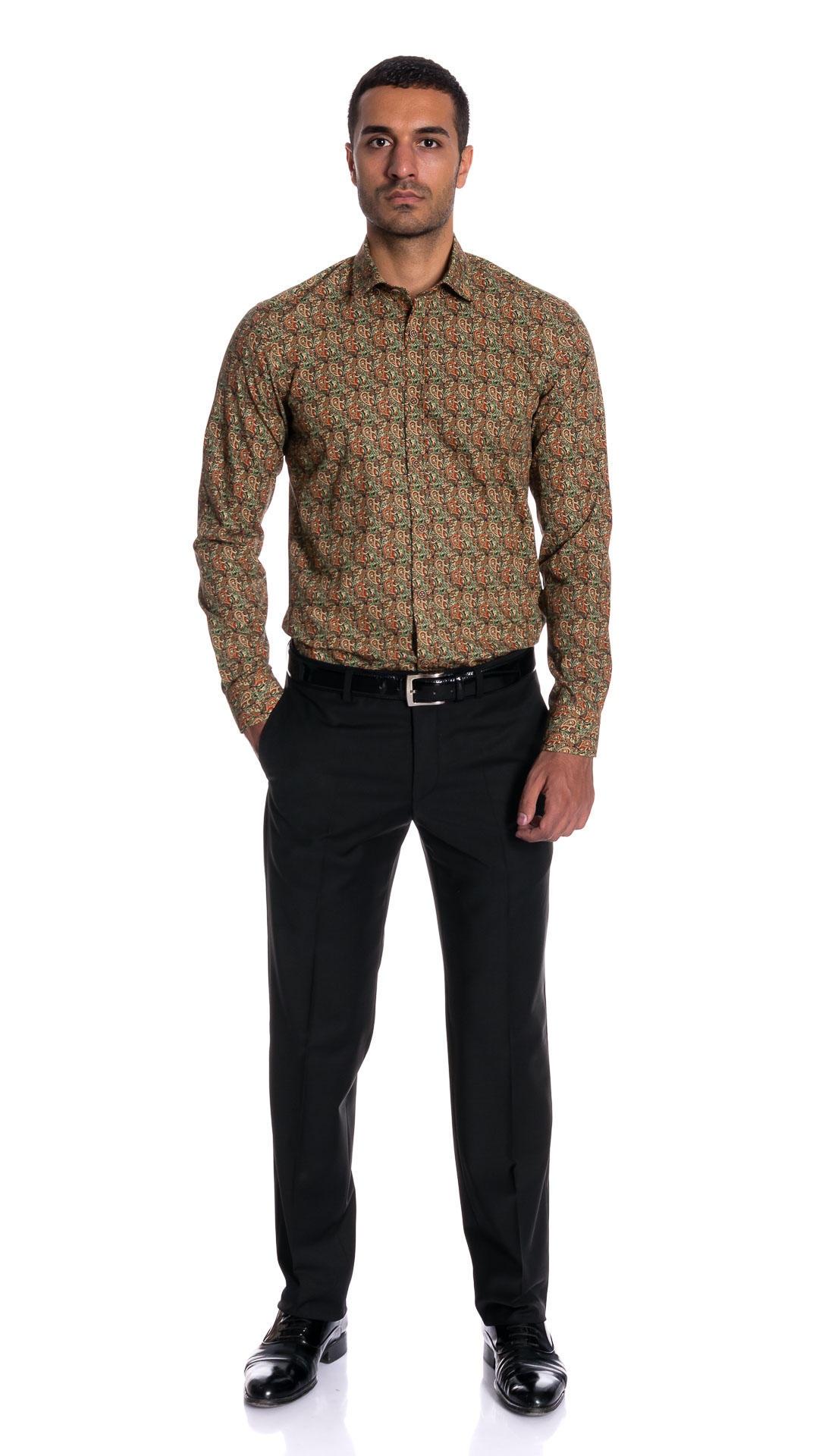MENS PRINTED MEXICO STYLE  COTTON SHIRT