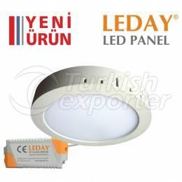 LEDAY Surface Mounted Led Panel Spot 12w White