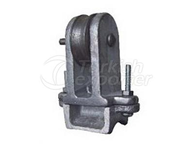 Flat Cable Rope Trolley Steel Wheel