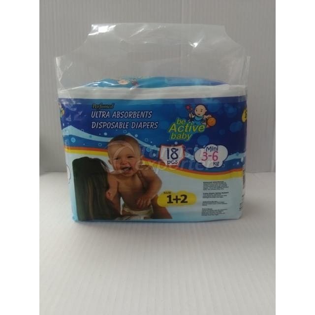 Baby Diapers Mini 18 pcs