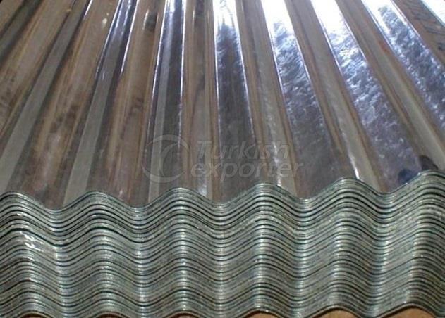 Feuilles ondulées galvanisées