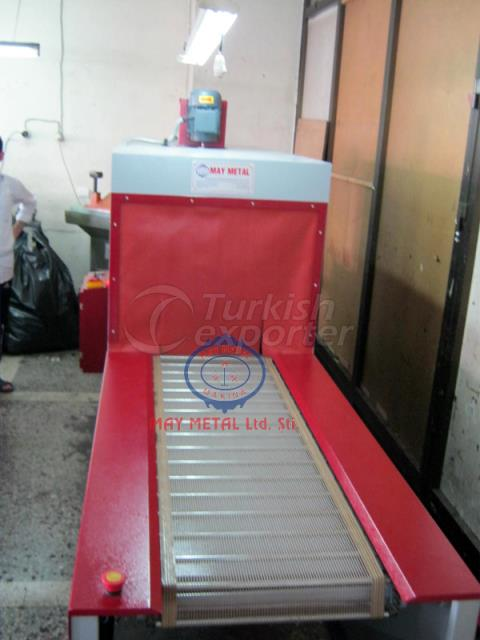 Automatic Capped Leather Belt Bag Paint Drying Corner Edge Horizontal Drying Tunnel