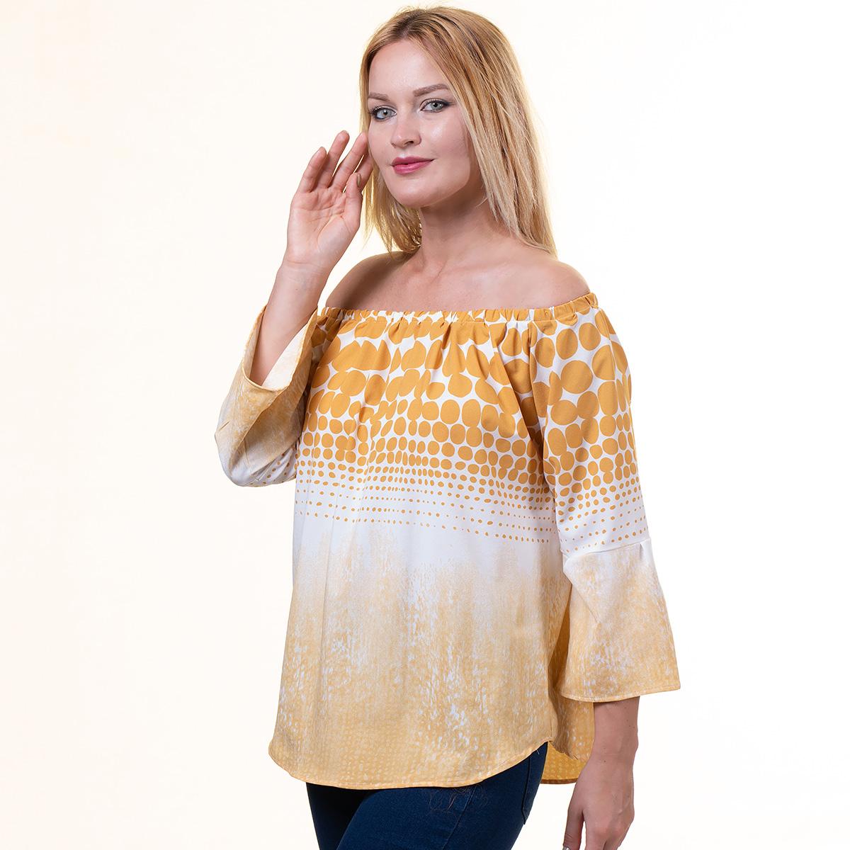 Women Wear Off Shoulder Blouse